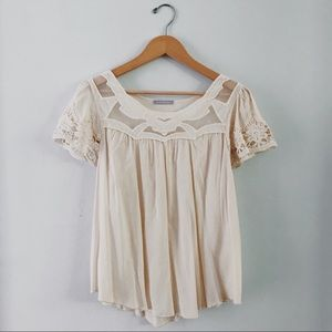 Tops - Cream Lace Blouse